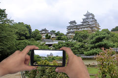 Take photo the Himeji castle for share . Royalty Free Stock Images