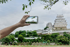 Take photo the Himeji castle for share . Stock Images
