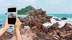Take photo Island on daylight Royalty Free Stock Image