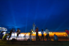 Take photo,Makha Bucha Day Royalty Free Stock Image