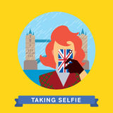 Take a photo selfie in United Kingdom Royalty Free Stock Photos