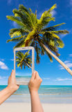 Take photo by tablet Royalty Free Stock Photo