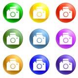 Take photo target icons set vector royalty free illustration