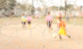 Net give net clear person play football not cle Stock Images