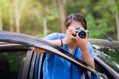 Take Picture From the Car Stock Images