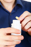 Take a Pill closeup Royalty Free Stock Image
