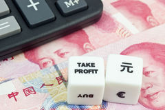 Take Profit Chinese Yuan Royalty Free Stock Photography