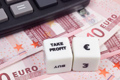 Take profit Euro Royalty Free Stock Images