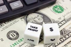Take profit US dollar stock photography