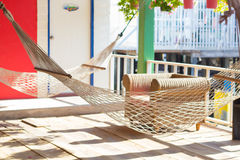 Take a rest with hammock. Hammock in the Resort at koh lan royalty free stock photos