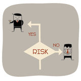 Take a risk. Cartoon character of take a risk concept Stock Photography
