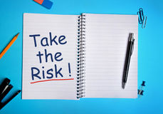 Take the Risk word Royalty Free Stock Photography