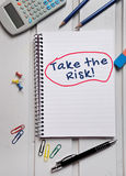 Take the Risk word Stock Photography