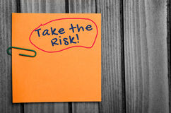 Take the risk word Royalty Free Stock Photo