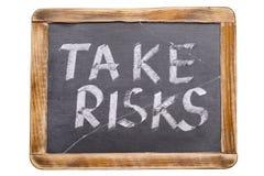 Take risks framed Stock Image