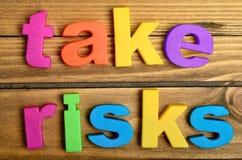 Take risks word Royalty Free Stock Photos