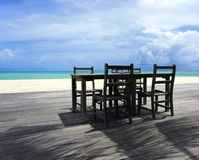 Take a seat at the beach Royalty Free Stock Photos