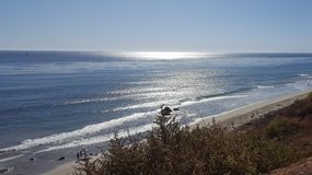 Take A Seat and Breath. Pacific Coast, California with sunshine royalty free stock photography