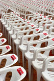 Take a Seat. Seats in a outdoor Theatre before the event Royalty Free Stock Images