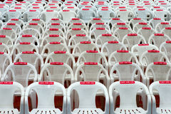 Take a Seat. Seats in a outdoor Theatre before the event Stock Photo