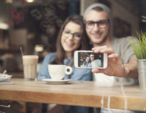 Take a selfie Stock Images