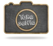 Take selfie concept Stock Photos