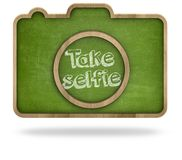 Take selfie concept Royalty Free Stock Images