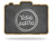 Take selfie concept Royalty Free Stock Image