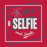 Take a Selfie t-shirt design Stock Image