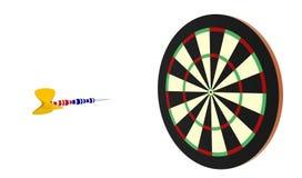 Take a shot. Darts board and darts arrow Royalty Free Stock Image