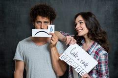 Take A Smile Concept stock photography
