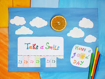 Take a smile, positive thinking concept Royalty Free Stock Images