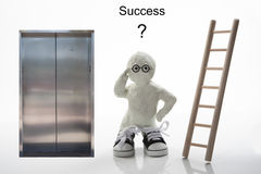 Take the stairs or Elevator to Success? Stock Photos
