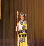 """Take a stick to the eunuch- Beijing Opera"""" Women Generals of Yang Family"""" Royalty Free Stock Image"""