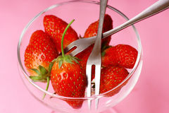 Take a strawberry Royalty Free Stock Photography