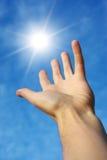 Take the sun. Conceptual design Royalty Free Stock Photography