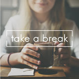 Take Ten Break Easy Cessation Pause Relaxation Concept Royalty Free Stock Images