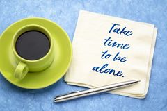 Take time to be alone stock photo