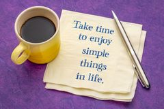 Take time to enjoy simple things in life royalty free stock image