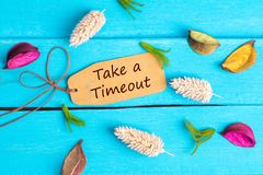 Take a timeout text on paper tag