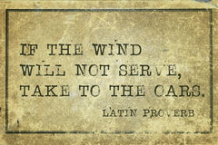 Take to oars Proverb Royalty Free Stock Image