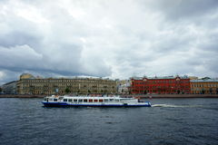 take a tour along River Neva in St.petersburg Stock Photos