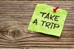 Take a trip note Royalty Free Stock Photos
