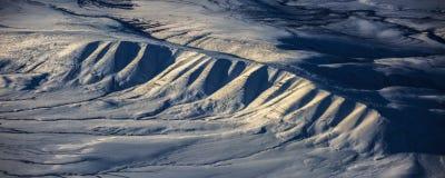 3Take une vue aérienne de la glace et du lever de soleil au-dessus du détroit de Béring ‰ de ¼ du ¼ ˆ1ï d'ï photographie stock libre de droits