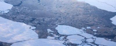 4Take une vue aérienne de la glace et du lever de soleil au-dessus du détroit de Béring ‰ de ¼ du ¼ ˆ1ï d'ï photographie stock libre de droits