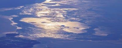 17Take une vue aérienne de la glace et du lever de soleil au-dessus du détroit de Béring ‰ de ¼ du ¼ ˆ1ï d'ï photographie stock