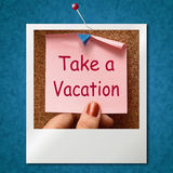Take A Vacation Photo Means Time For Holiday Royalty Free Stock Photo