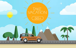 Take Vacation travelling concept Stock Images