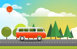 Take Vacation travelling concept. Flat design Stock Photography