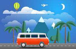 Take Vacation travelling concept. Flat design Stock Photos